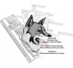 05-WC-0837 - Tamaskan Dog Intarsia Yard Art Woodworking Plan
