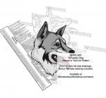 Tamaskan Dog Intarsia Yard Art Woodworking Plan