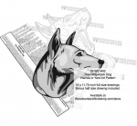 05-WC-0843 - Thai Ridgeback Dog Intarsia Yard Art Woodworking Plan
