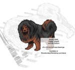 05-WC-0844 - Tibetan Mastiff Dog Intarsia Yard Art Woodworking Plan