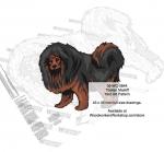 Tibetan Mastiff Dog Intarsia Yard Art Woodworking Plan