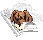 05-WC-0845 - Tibetan Spaniel Dog Intarsia Yard Art Woodworking Plan