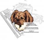 Tibetan Spaniel Dog Intarsia Yard Art Woodworking Plan