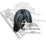 05-WC-0846 - Tibetan Terrier Dog Intarsia Yard Art Woodworking Plan
