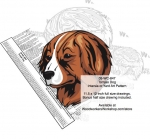 05-WC-0847 - Tornjak Dog Intarsia Yard Art Woodworking Plan