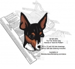05-WC-0849 - Toy Fox Terrier Dog Intarsia Yard Art Woodworking Plan