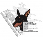 Toy Manchester Terrier Dog Intarsia Yard Art Woodworking Plan