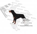 05-WC-0851 - Transylvanian Hound Dog Intarsia Yard Art Woodworking Plan