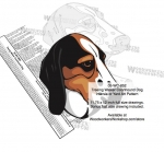 05-WC-0852 - Treeing Walker Coonhound Dog Intarsia Yard Art Woodworking Plan