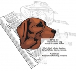 05-WC-0854 - Tyrolean Hound Dog Intarsia Yard Art Woodworking Plan