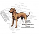 Vizsla Dog Intarsia Yard Art Woodworking Plan