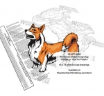 Pembroke Welsh Corgi Dog Intarsia Yard Art Woodworking Plan
