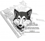 West Siberian Laika Dog Intarsia Yard Art Woodworking Plan