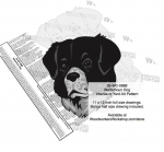 05-WC-0866 - Wetterhoun Dog Intarsia Yard Art Woodworking Plan