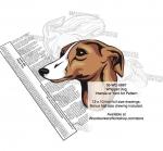 Whippet Dog Intarsia Yard Art Woodworking Plan