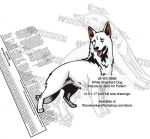 05-WC-0868 - White Shepherd Dog Intarsia Yard Art Woodworking Plan