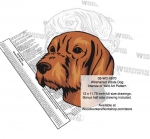05-WC-0870 - Wirehaired Vizsla Dog Intarsia Yard Art Woodworking Plan