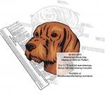 Wirehaired Vizsla Dog Intarsia Yard Art Woodworking Plan