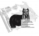 05-WC-0871 - Yorkshire Terrier Dog Intarsia Yard Art Woodworking Plan