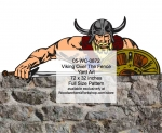 05-WC-0872 - Viking Over The Fence Yard Art Woodworking Pattern