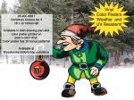Christmas Gnome No.9 Yard Art Woodworking Project, Christmas,gnomes,xmas,winter,seasonal,dwarfs,elfs,elves,little people,fairies,yard art,painting wood crafts,scrollsawing patterns,drawings,plywood,plywoodworking plans,woodworkers projects,workshop bl