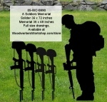 05-WC-0890 - A Soldiers Memorial Yard Art Full Size Woodworking Drawings