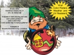 05-WC-0894 - Christmas Gnome No.21 Yard Art Woodworking Project