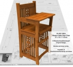 05-WC-0924E - Mission Style Baby Highchair Woodworking Plan