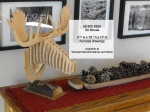 3D Moose Head Woodworking Pattern, moose,3D,scrollsaw,bandsaw,yard art,painting wood crafts,scrollsawing patterns,drawings,plywood,plywoodworking plans,woodworkers projects,workshop blueprints