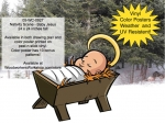 Nativity Scene - Baby Jesus Yard Art Woodworking Pattern