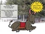 Nativity Scene - Donkey Yard Art Project