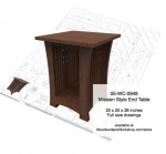Mission style End Table Woodworking Plan, Mission style,solid wood furniture,mortise and tenons joints,drawings,plans,woodworkers projects,workshop blueprints