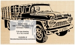05-WC-0950 - 1960 Ford F-500 Stake Body Truck Scrollsaw Woodworking Pattern PDF