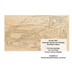 American Muscle Car Mustang Scrollsaw Woodworking Pattern woodworking plan