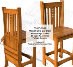 fee plans woodworking resource from WoodworkersWorkshop® Online Store - bar stools,seating,Mission style,solid wood furniture,mortise and tenons joints,drawings,plans,woodworkers projects,workshop blueprints