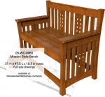 05-WC-0960 - Mission style Bench Woodworking Plan