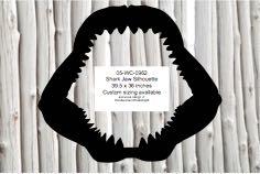 Megladon Shark Jaw Silhouette