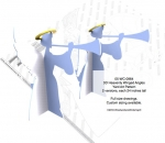 05-WC-0964 - 3D Heavenly Winged Angel 24 inches tall Woodworking Pattern