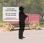 Cowboy Silhouette Yard Art Woodworking Pattern