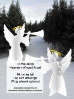 Heavenly Winged Angel Yard Art Woodworking Pattern