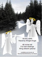 05-WC-0969 - Heavenly Winged Angel Yard Art Woodworking Pattern