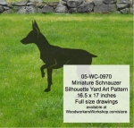 Miniature Schnauzer Dog Silhouette Yard Art Woodworking Pattern