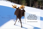 05-WC-0973 - 3D Moose Yard Art Woodworking Pattern