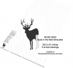 05-WC-0974 - Buck in the field Silhouette Yard Art Woodworking Pattern