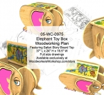 (OFFLINE) Elephant Toy Box with Safari Story Board Woodworking Plan woodworking plan