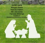fee plans woodworking resource from WoodworkersWorkshop® Online Store - manger scene,Joseph,Mary,Baby Jesus,yard art,painting wood crafts,scrollsawing patterns,drawings,plywood,plywoodworking plans,woodworkers projects,workshop blueprints