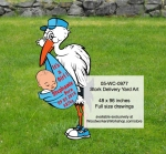 Stork Delivery Yard Art Woodworking Pattern