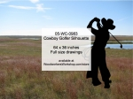 Cowboy Golfer Silhouette Yard Art Woodworking Pattern