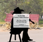 Cowboy Fiddler Silhouette Yard Art Woodworking Pattern