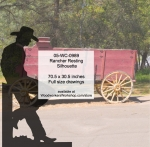 Rancher Resting Silhouette Yard Art Woodworking Pattern, cowboys,leaning,restings,fences,ranchers,cowhands,cattleman,yard art,painting wood crafts,drawings,plywood,plywoodworking plans,woodworkers projects,workshop blueprints